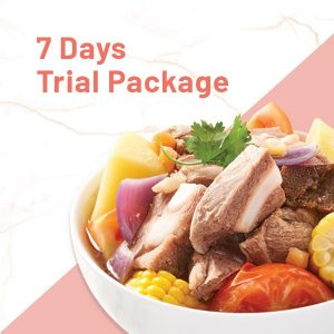 7 Day trial tingkat package with abc soup
