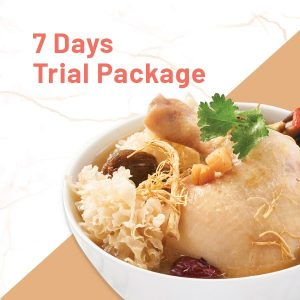 7 Day trial tingkat package with chicken soup